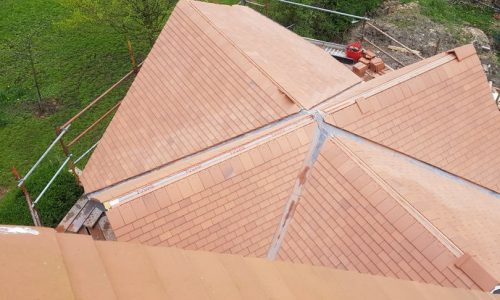 Overhead View of the new build roof being undertaken in bramhall.